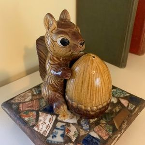 Vintage 1960s Squirrel Salt and Pepper Shakers